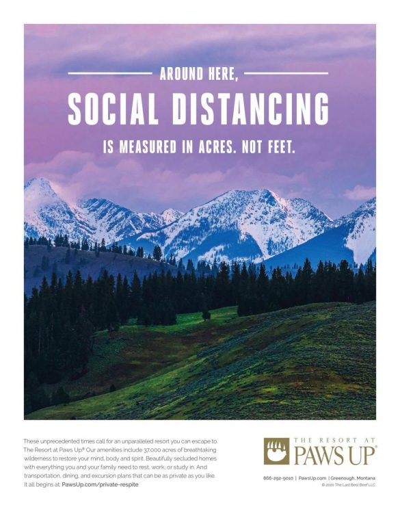 The Resort at Paws Up: Montana Distancing