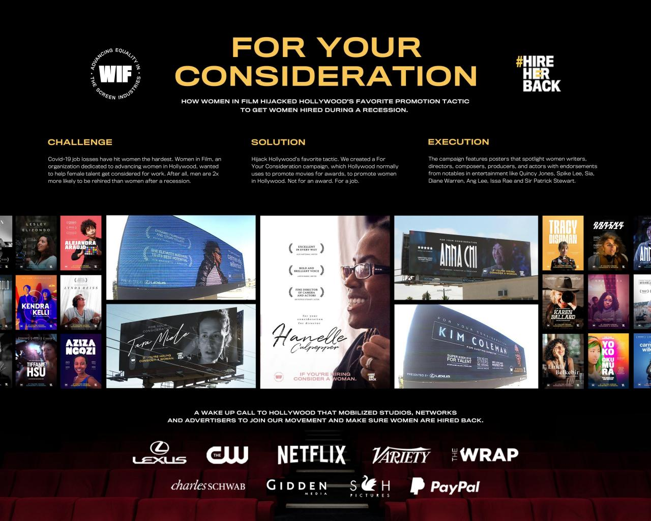 Women In Film: For Your Consideration